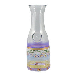 Golden Hill Studio - Mosaic Carnival Carafe - Nice serve! This carafe offers a uniquely artistic approach to pouring your favorite vintage. Each one is hand-painted in colors that will complement red or white wine … or a bouquet of flowers should you so desire.