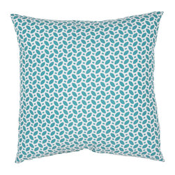 """Jaipur Rugs - Blue/Ivory color polyester odl little hipster poly fill pillow 18""""x18"""" - These fashion forward pillows, in trellis, stripes and whimsical patterns are for both indoor and outdoor use."""