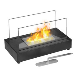 Moda Flame - Moda Flame Vigo Table Top Ethanol Fireplace - The Vigo versatile modern ethanol fireplace has a sleek design with glass panels that allow for maximum fire visibility. Portable and can be used both indoor and outdoor. Features a simple way to add fire to any setting. It's modern and compact design make it a great home accessory. Place it in your existing masonry hearth as a replacement for a traditional log or gas fire or use it as a standalone.