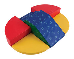 Ecr4kids - Ecr4Kids Softzone Fun For Two - Up, Down and All Around. Slide, climb or relax in one of two cozy corners. This beginner climber is perfect for two kids to explore and imagine. Soft, sturdy, polyurethane foam shapes are covered in reinforced, phthalate-free vinyl to create a comfy and stimulating learning environment. Encourages climbing, crawling, social interaction and develops gross motor skills.