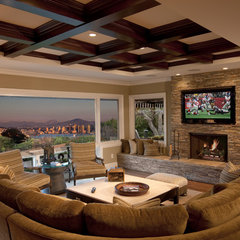 contemporary family room by GDC Construction