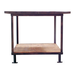 Industrial Table Top Kitchen Island - Reclaimed one-of-a-kind vintage industrial kitchen island. Great for use as a desk, in the kitchen, or in a retail environment.