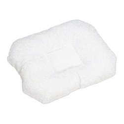 "Hermell Products Inc - Orthopedic Pillow w/ White Polycotton Fabric - L 25"" x H 3"" x W 19"" - No more Back aches unique design with raised outer edge fills the gap between head and neck to help promote correct spine alignment and reduce muscle tension. Ideal for back or side sleepers"