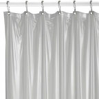 Splash Home - Heavyweight Frosted Shower Curtain Liner - Heavyweight shower curtain liner has magnets to keep it in place. With metal grommets, this five-gauge liner will be perfectly paired with any shower curtain, and best of all it resists mildew.