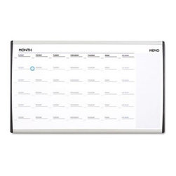 Quartet 30 x 18 in. Calendar Dry Erase Board - Easily keep a track of dates and various schedules, with the Quartet 30 x 18 in. Calendar Dry Erase Board. This magnetic board features a memo writing area besides the calendar. It's suitable to be mounted on most fabric, dry or even cubicle walls. Apart from this, its height-adjustable clips will help you to keep it straight while installation. A sturdy aluminum frame further adds to its durability and stability.About United StationersDedicated to making life in the office more organized, efficient, and easier, United Stationers offers a wide variety of storage and organizational solutions for any business setting. With premium products specifically designed with the modern office in mind, we're certain you will find the solution you are looking for.From rolling file carts to stationary wall files, every product in the United Stations line is designed with one simple goal: to improve office efficiency. In turn, you will find increased productivity, happier, more organized employees, and an office setting that simply runs better, with the ultimate goal of increasing bottom line profits.