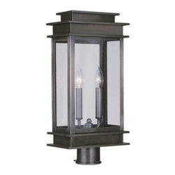Livex Lighting Inc - Livex Princeton Outdoor Post Head Vintage Pewter -2017-29 - Livex products are highly detailed and meticulously finished by some of the best craftsmen in the business