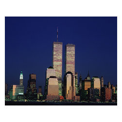 Custom Photo Factory - World Trade Center, New York City Canvas Wall Art - World Trade Center, New York City  Size: 20 Inches x 30 Inches . Ready to Hang on 1.5 Inch Thick Wooden Frame. 30 Day Money Back Guarantee. Made in America-Los Angeles, CA. High Quality, Archival Museum Grade Canvas. Will last 150 Plus Years Without Fading. High quality canvas art print using archival inks and museum grade canvas. Archival quality canvas print will last over 150 years without fading. Canvas reproduction comes in different sizes. Gallery-wrapped style: the entire print is wrapped around 1.5 inch thick wooden frame. We use the highest quality pine wood available. By purchasing this canvas art photo, you agree it's for personal use only and it's not for republication, re-transmission, reproduction or other use.