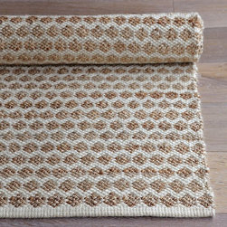 Jute Dot Rug - I love the honeycomb pattern and the cotton-jute blend in this rug. It is durable, and it may be able lend a little texture to a space.