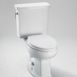 TOTO - TOTO CST424EF#03 Eco Promenade Toilet, Round Bowl - 1.28 GPF, Bone - TOTO CST424EF#03 Eco Promenade Toilet, Round Bowl - 1.28 GPF, Bone When it comes to Toto, being just the newest and most advanced product has never been nor needed to be the primary focus. Toto's ideas start with the people, and discovering what they need and want to help them in their daily lives. The days of things being pretty just for pretty's sake are over. When it comes to Toto you will get it all. A beautiful design, with high quality parts, inside and out, that will last longer than you ever expected. Toto is the worldwide leader in plumbing, and although they are known for their Toilets and unique washlets, Toto carries everything from sinks and faucets, to bathroom accessories and urinals with flushometers. So whether it be a replacement toilet seat, a new bath tub or a whole new, higher efficiency money saving toilet, Toto has what you need, at a reasonable price. TOTO CST424E