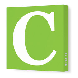 "Avalisa - Letter - Upper Case 'C' Stretched Wall Art, Green, 28"" x 28"" - Spell it out loud. These uppercase letters on stretched canvas would look wonderful in a nursery touting your little one's name, but don't stop there; they could work most anywhere in the home you'd like to add some playful text to the walls. Mix and match colors for a truly fun feel or stick to one color for a more uniform look."