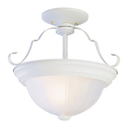 Trans Globe - Trans Globe PL-13213 AW 2-Light Semi Flush Mount - Trans Globe PL-13213 AW 2-Light Semi Flush Mount
