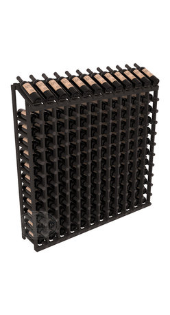 Wine Racks America - 144 Bottle Display Top Wine Rack in Pine, Black Stain - Present 12 of your best bottles label up for easy appreciation. Display top wine racks are perfect for commercial or residential environments as they match our modular rack specifications. Engineered to be rock solid, we guarantee it will last. Designed to be elegant, you'll love these racks. We guarantee it.