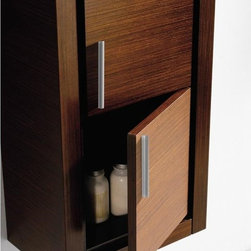 Fresca - Fresca Bathroom Linen Side Cabinet w/ 2 Doors - This attractive hanging side cabinet comes in a Wenge Brown finish. It features 2 spacious areas with 2 soft closing doors.