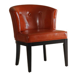 Armen Living - Armen Living Ovation Tufted Leather Club Chair in Burnt Sienna - Armen Living - Accent Chairs - LC3116CLBCRE - Handsome solid wood all leather tufted back burnt sienna club chair. Great seating for your home or office. Armen Living is the quintessential modern-day furniture designer and manufacturer. With flexibility and speed to market Armen Living exceeds the customer's expectations at every level of interaction. Armen Living not only delivers sensational products of exceptional quality but also offers extraordinarily powerful reliability and capability only limited by the imagination. Our client relationships are fully supported and sustained by a stellar name legendary history and enduring reputation. The groundbreaking new Armen Living line represents a refreshingly innovative creative collaboration with top designers in the home furnishings industry. The result is a uniquely modern collection gorgeously enhanced by sophisticated retro aesthetics. Armen Living celebrates bold individuality vibrant youthfulness sensual refinement and expert craftsmanship at fiscally sensible price points. Each piece conveys pleasure and exudes self expression while resonating with the contemporary chic lifestyle.