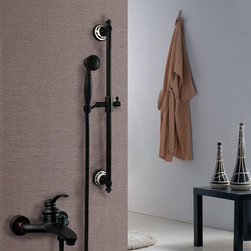 Oil Rubbed Bronze Single Handle Shower With Tub Spout Handheld Shower K24 - Special design,adjustable hand shower bar,with porcelain ends,makes the whole bath room all the more attractive and elegant.