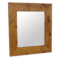 Cottage Rustic Decor - Pine framed mirror