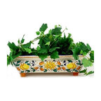 Artistica - Hand Made in Italy - RUSTICA SICILIA: Rectangular Planter (Medium) - SICILIANA Collection