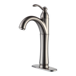 Kraus - Kraus Riviera Single Lever Vessel Faucet Satin Nickel - *Add a touch of elegance to your bathroom with a vessel sink faucet from Kraus