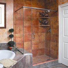 Modern Shower Doors by Delta Glass