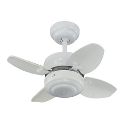 Compact 20-Inch Ceiling Fan with Four Blades -