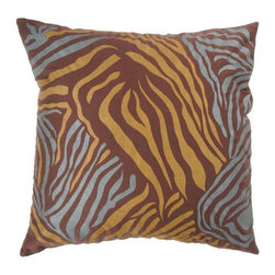 Rizzy Home - Brown and Gold Decorative Accent Pillows (Set of 2) - T02843 - Set of 2 Pillows.