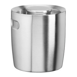 Kraftware - 1.5-qt. Doublewall Insulated Ice Bucket - No handle. Made from brushed stainless steel. 9 in. W x 9 in. D x 9 in. H (2 lbs.)