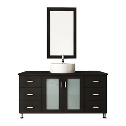Grand Lune Single Vessel Sink Modern Bathroom Vanity Furniture