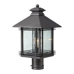 ELK Lighting - ELK Lighting Blackwell 42304/1 Outdoor Post Light - Graphite - 9W in. - 42304/1 - Shop for Posts from Hayneedle.com! Add stylish illumination to your outdoor decor with the ELK Lighting Blackwell 42304/1 Outdoor Post Light - Graphite - 9W in.. An elegant steel frame in a warm graphite finish surrounds the clear seedy glass shade with metal accents. A welcoming glow brightens up your walkway via a single 100-watt medium base bulb (not included).About E.L.K. LightingIn 1983 Adolf Ebenstein Jonathan Lesko and Russell King combined their lighting expertise to form E.L.K. Lighting Inc. From the company's beginning in eastern Pennsylvania it has become a worldwide leader featuring manufacturing facilities and showrooms in the U.S. and abroad. Award-winning designs and state-of-the-art engineering give their lighting outstanding quality and value and has made E.L.K. the choice of such renowned places as the Historic Royal Palaces of England and George Vanderbilt's Biltmore Estates. Whether a unique custom design or one of their designer lines all products are supported by highly trained technical and customer service teams. A commitment to providing superior lighting products with unmatched customer satisfaction remains at the heart of the E.L.K. family tradition.Please note this product does not ship to Pennsylvania.