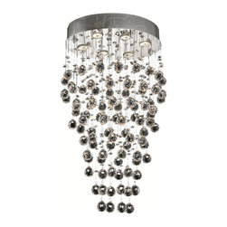 Elegant Lighting - Elegant Lighting 2022D20C/EC Galaxy 6 Light Chandeliers in Chrome - 2022 Galaxy Collection Hanging Fixture L20in W14in H30in Lt:6 Chrome Finish (Elegant Cut Crystals)