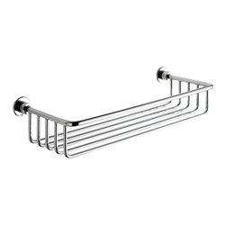 Gedy - Chrome Wire Bath Basket - Contemporary style wall mounted rectangular wire bath basket.