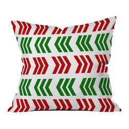 DENY Designs - DENY Designs Lisa Argyropoulos Jolly Zig Zag Throw Pillow, Medium - Wanna transform a serious room into a fun, inviting space? Looking to complete a room full of solids with a unique print? Need to add a pop of color to your dull, lackluster space? Accomplish all of the above with one simple, yet powerful home accessory we like to call the DENY Throw Pillow! Available in four sizes, our throw pillow is made from a medium weight woven polyester with a hidden zipper and removable bun insert.