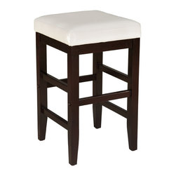 Standard Furniture - Standard Furniture Smart Stools Square Stool w/ White Leatherette Seat - 24 Inch - Square Stool with White Leatherette Seat belongs to Smart Stools collection by Standard Furniture. Smart Stools, like their name says, are smart additions to any kitchen or casual dining space offering compact and versatile seating options.