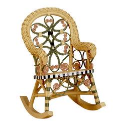 Spice Island Wicker - 28 in. Kids Rocker Chair (Brown) - Victorian style. Made from wicker. Carousel color. 28 in. L x 16 in. W x 28 in. H (20 lbs.)