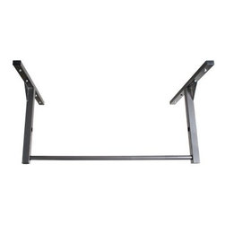 Stud Bar Standard Pull Up Bar - If you're serious about pull-ups chin-ups or kipping pull-ups the Stud Bar Standard Pull Up Bar is the only option for you. Other products lack the stability and strength to safely stand up to your exercise but the Stud Bar is a gym-quality bar made from 14-gauge steel with triangular gussets. Its 48-inch width allows it to be easily and safely mounted to your existing ceiling or wall studs and its rock-solid frame can support up to 600 pounds. The Stud Bar is adjustable to hang 14 or 22 inches below your 9-foot ceiling and boasts a 1.25-inch diameter bar for superior workout comfort. Finished in a hammer-tone powder-coated finish this bar is what you need to look and feel serious in your home gym. Wood mounting hardware and a lifetime warranty are included. Please measure your ceiling prior to ordering.