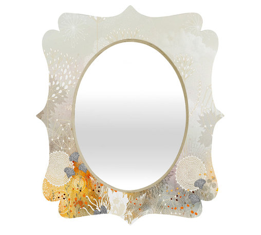 DENY Designs - Iveta Abolina White Velvet Quatrefoil Mirror - Mirror, mirror on the wall. Who's the fairest one of all? We'll that's easy, the quatrefoil mirror collection, of course! With a sleek mix of baltic birch ply trim that's unique to each piece and a glossy aluminum frame, the rectangular mirror makes you feel oh so pretty every time you catch a glimpse. Custom made in the USA for every order.
