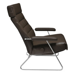 Lafer - Lafer Adele Reclining Chair, Brown - A complete collection of reclining chairs of different models, colors and finishing options, all of them with the exclusive Lafer retractable footrest, and the independent headrest and backrest fine adjustments. On all models, regardless of their shape or style, you will find the amazing Lafer customized comfort.