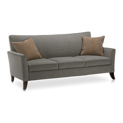 Younger - Flair Sofa - Style and comfort enjoy a harmonious coupling in this sleek, cushy sofa. With the swoop of the solid wood legs adding just the hint of wit and whimsy you desire for your decor, this sofa is the perfect addition to your sitting room.