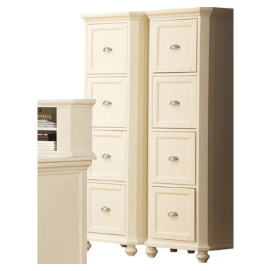 Homelegance - Homelegance Hanna 4-Drawer File Cabinet in White - Designed with versatility in mind, these Home Office collection s can be configured to accommodate any home office environment. With three base cabinet models and five desktop options, you can create a customized work environment perfectly fit in every corner. Small and large hutch options allow for vertical expansion of the collection . Auxiliary options include a lateral file cabinet and stacking bookshelves provide additional storage.