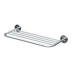 """Gatco - Gatco 1544 Chrome  20"""" Forged Brass Towel Rack - Towel Rack  Height: 10"""" Length: 20"""" Forged Brass Construction"""