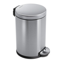 4.5 Litre Round Step Can, Fingerprint-Proof Brushed Stainless Steel