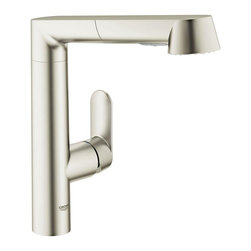 Grohe - Grohe K7 Main Sink Dual Spray Pull-Out Kitchen Faucet, SuperSteel (32178 DC0) - Grohe 32178 DC0 K7 Main Sink Dual Spray Pull-Out Kitchen Faucet, SuperSteel