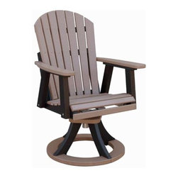 Fifthroom - Poly Lumber Comfo-Back Swivel Rocker Dining Chair -