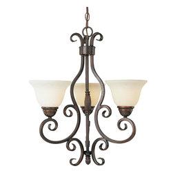 Maxim Lighting - Oil Rubbed Bronze Manor 3 Light 1 Tier Chandelier - Product