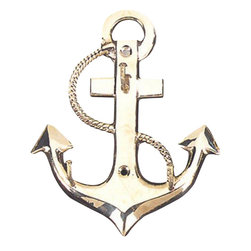 "Brass Anchor Key Hanger - The brass anchor key hanger is available in size 5"". It is made of sand cast, solid, polished brass and made to last. It will add a definite nautical touch to wherever it is placed and is a must have for those who appreciate high quality nautical decor. It makes a great gift, impressive decoration and will be admired by all those who love the sea."