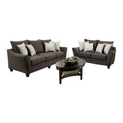 Chelsea Home Furniture - Chelsea Home Cupertino 2-Piece Living Room Set Cosmopolitan Birch Pillows - Cupertino 2-Piece Living Room Set in Flannel Seal - Cosmopolitan Birch Pillows belongs to the Chelsea Home Furniture collection