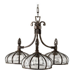 Traditional Uttermost Galeana 3-Light Chandelier