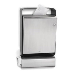 Casa Stainless Steel Mailbox With Newspaper Holder - This modern Casa mailbox is made with stainless steel and has a powder-coated matte aluminum mount.