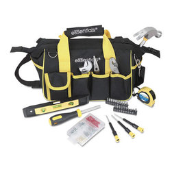 Great Neck - Great Neck 32-Piece Expanded Tool Kit with Bag - Convenient 18-pocket carrying bag makes it easy to tool around with this set at home, in the garage or at the office. Ergonomic grip handles are designed to minimize hand, wrist and arm fatigue. Perfect for do-it-yourself projects, general maintenance or minor repair tasks. Added shoulder strap for comfort. Set includes 6 long nose pliers, 6 slip joint pliers, 6 adjustable wrench, 12-oz tubular steel hammer, 9 magnetic 3-vial torpedo level, 12 ft x 5/8 measuring tape, three precision screwdrivers, magnetic bit driver, 19 insert bits (in holders), 1/4 adapter, fastener set and 18-pocket canvas zip-up tool bag.