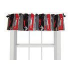 """Room Magic - Action Sports Window Valance - Our Action Sports window valance coordinates with the bedding fabric, knobs and accessories to make the room theme complete. Baseball, Soccer, Football, Snowboarding, Basketball... Boys of every age will find the sports action figures on this fabric design """"super cool"""". 15""""H x 59"""" W."""