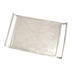 Saro - Nickel Serving Tray - Sleek and stylish. Our Nickel collection sets the standard for sophisticated table decor.